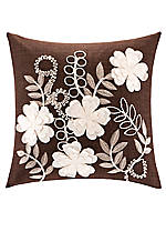 Lynwood Chocolate Square Decorative Pillow 18-in. x 18-in.