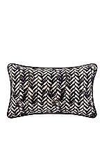 Areca Blue Herringbone Print Oblong Decorative Pillow 12-in. x 20-in.