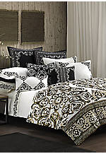Silk Road White/Black Multi Queen Comforter Set 92-in. x 96-in.
