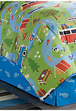Camping Trip Twin Bedskirt