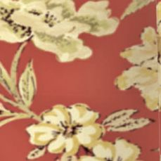 Shower Curtains: Red Waverly SHOWER CURTAIN RED 72X72