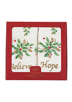 Lenox Hope and Believe Collection Fingertip Towel Box Set