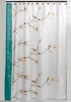 Lenox® Chirp Shower Curtain and Hooks - Sold Separately
