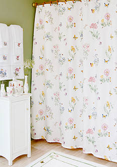 Lenox® Butterfly Meadow Shower Curtain and Hooks - Sold Separately