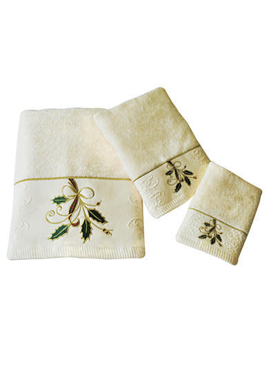 Lenox® Holly and Ribbon Towel Collection