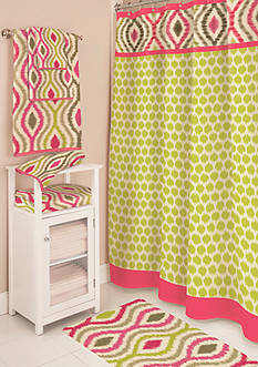 Waverly® Optic Delight Shower Curtain and Hooks