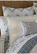 Cali Coast White/Blue Euro Sham 26-in. x 26-in.