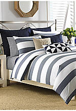 Lawndale Navy Full/Queen Comforter Set 86-in. x 96-in.