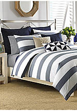 Lawndale Navy Full/Queen Duvet Set 88-in. x 92-in.