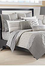 Margate Gray Full/Queen Coverlet 90-in. x 90-in.