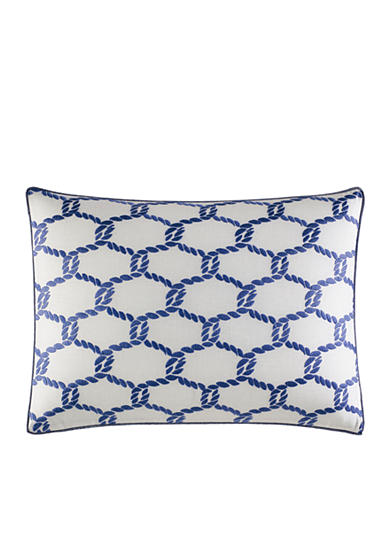 Nautica Cunningham Rope Embroidered Decorative Pillow