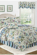 Charleston Chirp Larkspur Full/Queen Quilt Set 88-in. x 90-in.