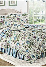 Charleston Chirp Larkspur King Quilt Set 90-in. x 104-in.