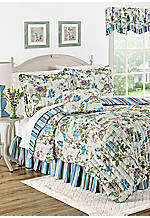 Charleston Chirp Larkspur Twin Quilt Set 68-in. x 90-in.