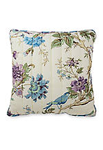 Charleston Chirp Larkspur Decorative Pillow 20-in. x 20-in.