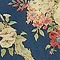 Waverly Bed: Dark Blue Waverly SANC ROSE CSET HRTG BLUE