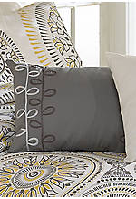 Blackbird Black/White/Yellow Embroidered Pillow 13-in. x 18-in.