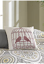 Blackbird Birdcage Pillow 16-in. x 16-in.