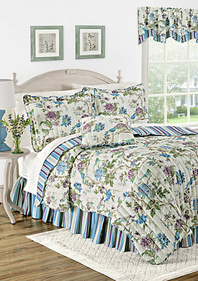 Waverly® Charleston Chirp Larkspur Quilt Set