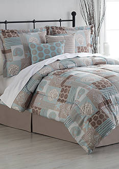 Home Accents® Turnstyles Ocean Shores Reversible Bedding Ensemble