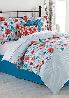 Home Accents Turnstyles Anabella Reversible 6-Piece Bedding Ensemble