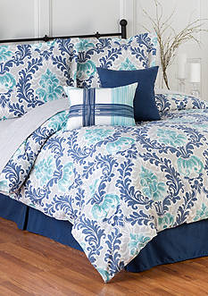 Home Accents 6PC BELMONT TURNSTYLE COMFORTER SET - QUEEN
