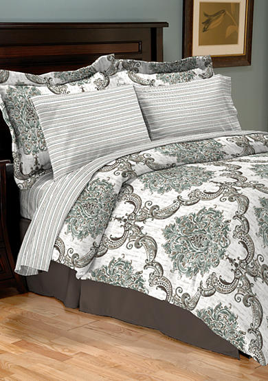 Home Accents® Turnstyles Constance Reversible 8-piece Bedding Ensemble