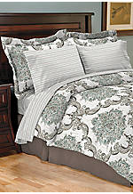 Constance Jade Full Reversible 8-Piece Comforter Set 78-in. x 90-in.
