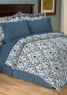 Home Accents® Turnstyles Edessa Reversible 8-Piece Bedding Ensemble