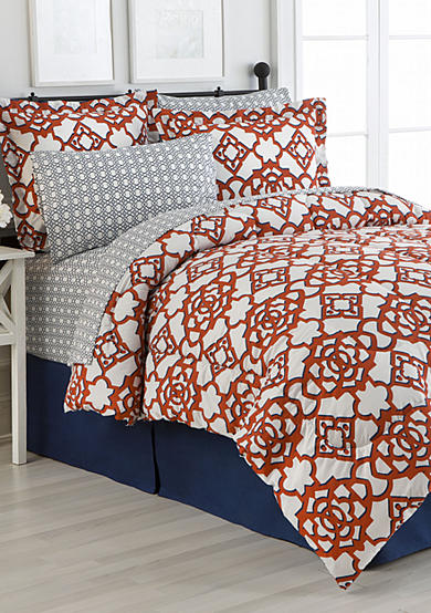 Home Accents® Turnstyles Jacey Reversible 8-Piece Bedding Ensemble