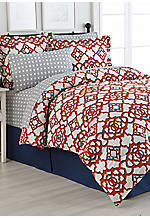 Jacey Turnstyle Full Reversible 8-Piece Bedding Ensemble 78-in. x 90-in.