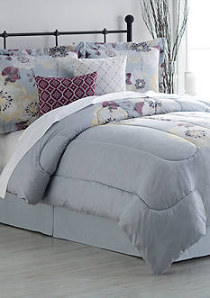Home Accents Turnstyles Lia Reversible 6-Piece Bedding Ensemble
