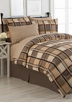 Home Accents® Turnstyles MacGregor Reversible 8-Piece Bedding Ensemble
