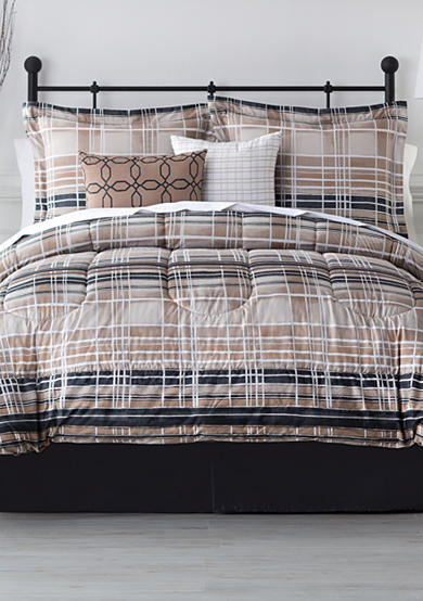 Home Accents® Oxford Reversible 6-Piece Bedding Ensemble