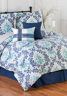 Home Accents® Belmont Turnstyles Reversible 6-Piece Bedding Ensemble