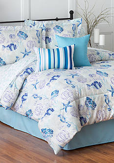 Home Accents 6PC SEA COAST TURNSTYLE COMFORTER SET - QUEEN