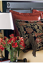 Genoa Maroon Floral Euro Sham 26-in. x 26-in.
