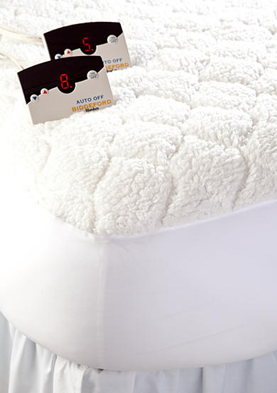 Biddeford Sherpa Quilted Skirted Heated Mattress Pad