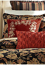 Juliana Red Square Embroidered Decorative Pillow 20-in. x 20-in.