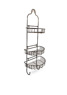 Taymor Adjustable Shower Caddy with Oval Baskets