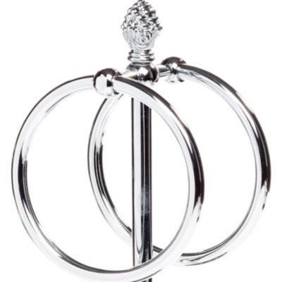 Taymor Bed & Bath Sale: Chrome Taymor Countertop Towel Ring with Pineapple Finial