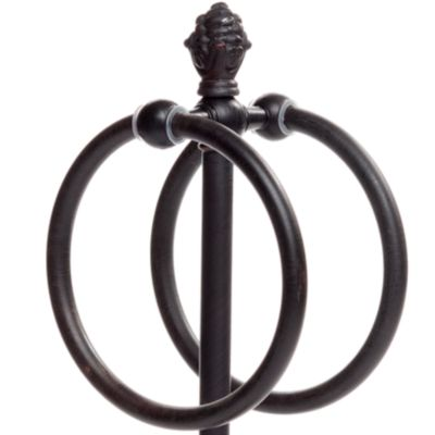 Taymor Bed & Bath Sale: Oil Rubbed Bronze Taymor Countertop Towel Ring with Pineapple Finial