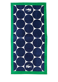 Lacoste Riviera Blue Beach Towel