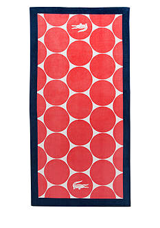 Lacoste Riviera Orange Beach Towel