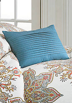 Biltmore Garden Medallion Pleated Oblong Dec Pillow