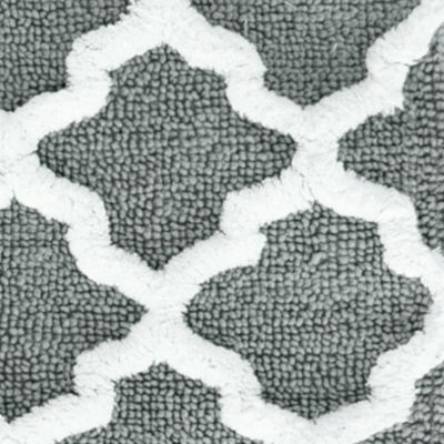 Coastal Bathroom: Gray Jessica Simpson Quatrefoil Bath Rug Collection - Online Only