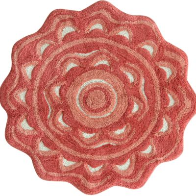For The Home: Jessica Simpson: Spice Coral Jessica Simpson Medallion Bath Rug