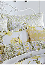 Watercolor Floral Light Green Euro Sham 26-in. x 26-in.