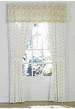 Watercolor Floral Light Green Valance 80-in. x 15-in.