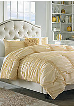 Cotton Clouds Yellow Twin Comforter Set 70-in. x 90-in.